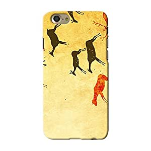 ArtzFolio Primitive Person Artwork : Apple iPhone 7 Matte Polycarbonate ORIGINAL BRANDED Mobile Cell Phone Protective BACK CASE COVER Protector : BEST DESIGNER Hard Shockproof Scratch-Proof Accessories : Abstract