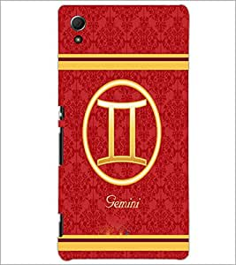 PrintDhaba Zodiac Gemini D-2734 Back Case Cover for SONY XPERIA Z4 (Multi-Coloured)