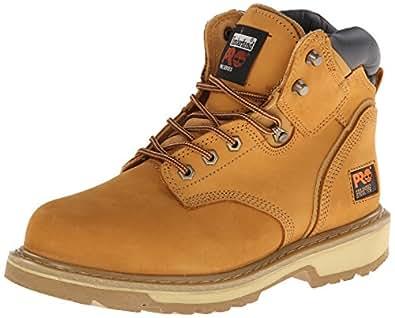 "Timberland PRO Men's Pitboss 6"" Steel-Toe Boot,Wheat,7 W"