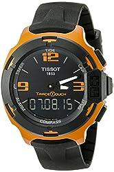 Tissot Men's T0814209705703 T-Race Touch Titanium Watch with Black Band