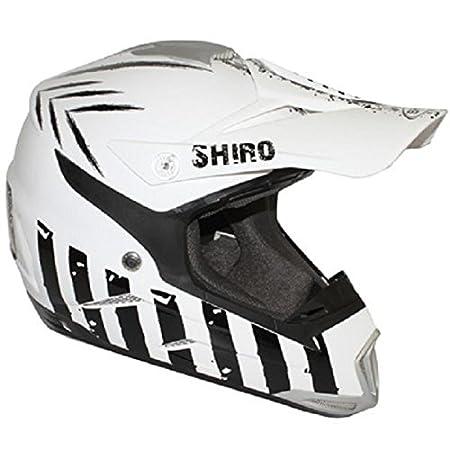 Casque moto cross SHIRO MX-305 SCORPION - Blanc / Noir