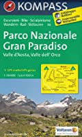 PN Gran Paradiso, Val d'Aoste, Orco Valle dell '(Italie) 1:50.000 randonnée topographique, le cyclisme et le ski de randonnée carte n ° 86