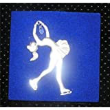 Ice figure skating birthday cake topper skater ornament suncatcher