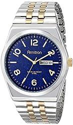 Armitron Men's 20/4967BLTT Blue Dial Two-Tone Expansion Bracelet Watch