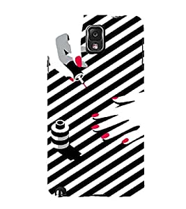 PrintVisa Fashion Nail Art Design 3D Hard Polycarbonate Designer Back Case Cover for Samsung Galaxy Note 3