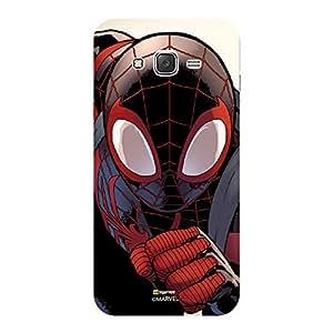 Marvel Ultimate Spider Man Licensed Slim Fit Plastic Case Cover for Samsung Galaxy On5 Pro (Black Spiderman / Face)