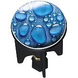 Wenko 20795100 Waschbeckenstöpsel Pluggy Drops Abfluss Stopfen, Messing, Kunststoff, Durchmesser 3.9 x 6.5 - 9.5 cm, blau