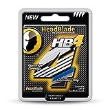 HeadBlade Men's HB4 Refill Shaving Razor Blades (4 Blades) (Tamaño: 1 Pack)