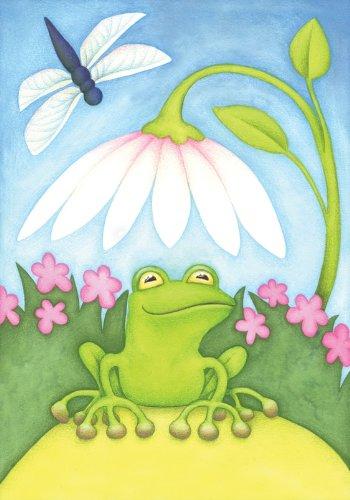 Toland Home Garden Little Green Frog House Flag 100074
