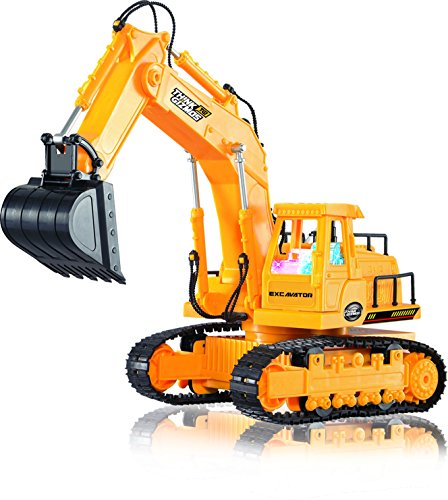 Remote-Control-Excavator-TG643-7-Channel-Full-Function-RC-Excavator-Toy-With-Lights-Sounds-By-ThinkGizmos-Trademark-Protected