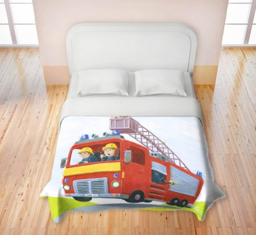 Duvet Cover Fleece Microfiber Toddler, Twin, Queen, King From Dianoche Designs By Gabe Cunnett Home Decor And Bathroom Ideas - Fire front-4938