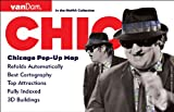 Pop-Up Chicago Map by VanDam - City Street Map of Chicago - Laminated folding pocket size city travel and subway map