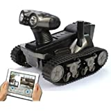 MAYMOC Wireless Spy Camera Detection Robot WiFi Iphone Ipad Android Remote Control Tank Car Real-time Video Camera