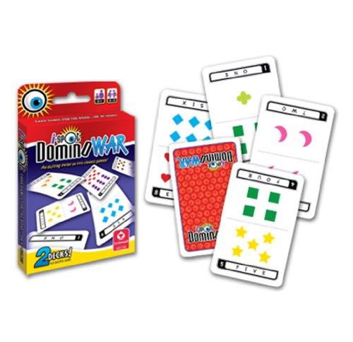 I-Spot Domino War 2-Deck Game Set