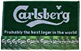 CARLSBERG LAGER Pub Bar Towel & 10 Beer Mats Coasters