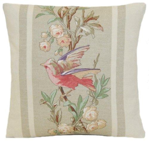 Decor Cushion Pillow Ralph Lauren Home Fabric Antoine Stripe Printed Linen Red