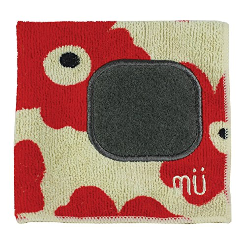 MUkitchen  Microfiber Dishcloth with Scrubber - Red Poppy
