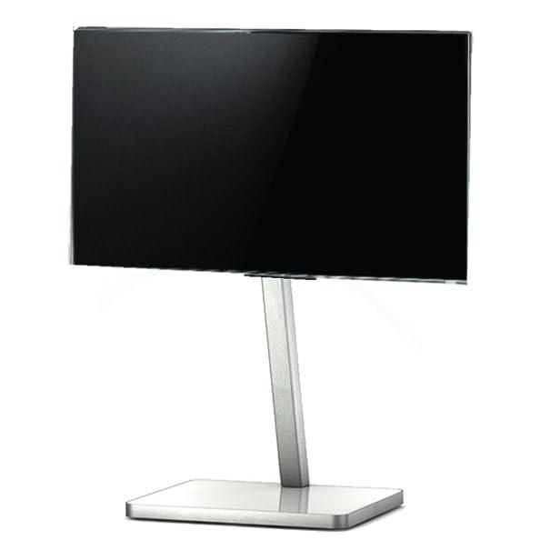 SONOROUS PL 2700 BCO-Diametro dello zoccolo di TV. Alto 92 cms. Base in vetro con telaio in alluminio, colore: bianco/grigio.