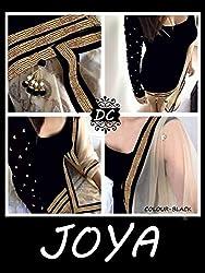 JJR Store Designer Black Velvet Embroidered Dress material