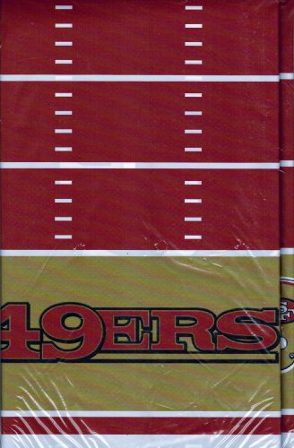 DesignWare San Francisco 49ers Plastic Table Cover, 54 by 102""