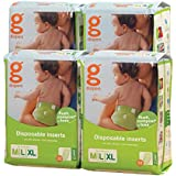 gDiapers Disposable Inserts, Medium/Large/X-Large (32 Count Bags, Pack of 4)