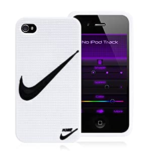 nike swoosh logo white silicone protective case cover for. Black Bedroom Furniture Sets. Home Design Ideas