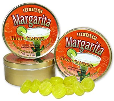 Margarita Hard Candy in Candy Gift Tin - Red Stone's Brand - 7 oz - Non-Alcoholic - One Container