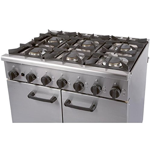 Heavy Duty 41.4kW LPG Gas Oven Range Commercial Kitchen Restaurant Cafe Chef
