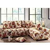 Imported 190-230cm 3Seats Sofa Couch Protector Elastic Slipcover Flower Pattern#02