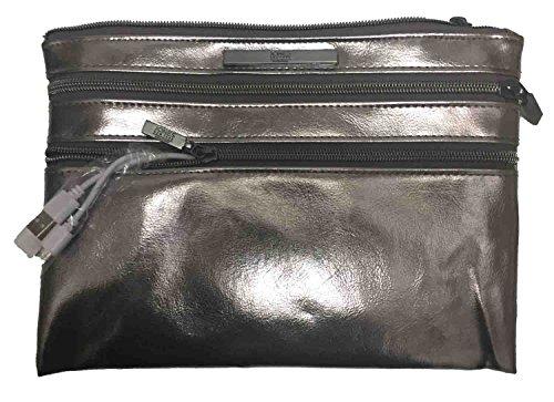 jones-new-york-signature-charging-pouch-silver-metallic-zip-closure