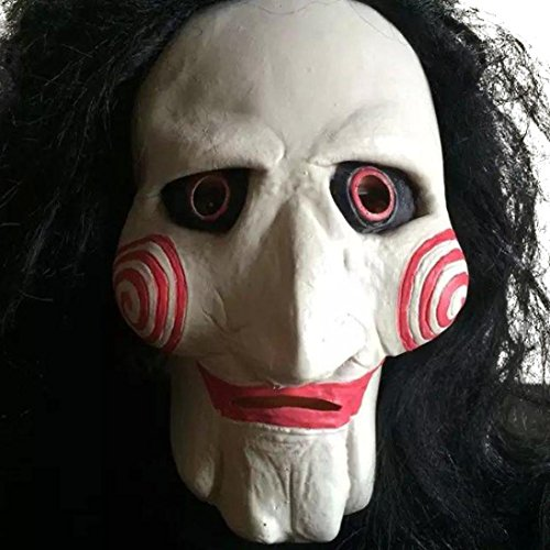 [Koolee Latex Creepy Halloween Full Mask Scary Costume Mask for Most Adults] (Scary Face Paint Halloween Costumes)