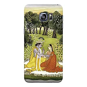 ColourCrust Samsung Galaxy S6 Edge Mobile Phone Back Cover With Vintage Radhe Krishna Art - Durable Matte Finish Hard Plastic Slim Case