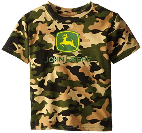 John Deere Little Boys' Trademark Short Sleeve Tee, Camouflage, 4T front-1037522