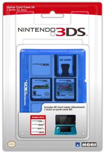 Hori Officially Licensed 3DS Game Card Case 24 (Blue) (Nintendo 3DS/DSi/DSL)
