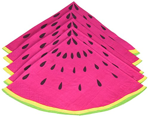 Ginger Ray Summer Fruits Watermelon Slice Party Paper Napkins, Pink (Fruit Party compare prices)