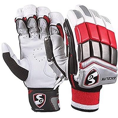 SG Excelite Batting Gloves, Men's Left Hand (White/Blue)