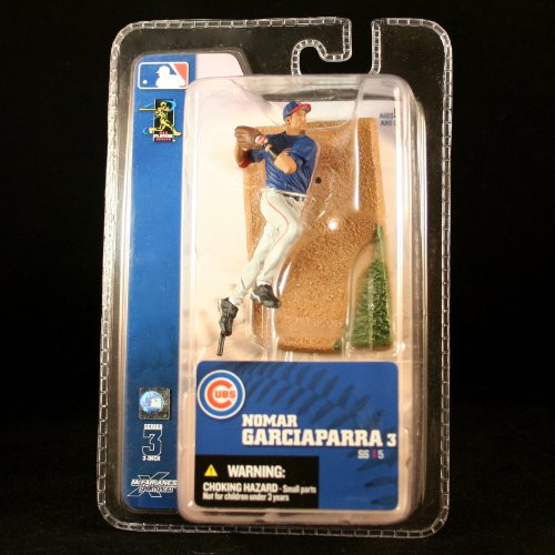 NOMAR GARCIAPARRA / CHICAGO CUBS * 3 INCH * McFarlane's MLB Sports Picks Series 3 Mini Figure & Display Base