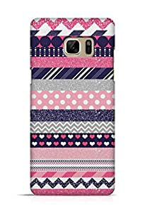 Cover Affair Patterns Printed Back Cover Case for Samsung Galaxy Note 7
