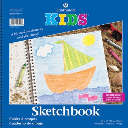 Strathmore-STR-27-110-30-Sheet-Kids-Spiral-Sketch-Book-12-by-12