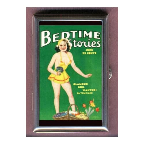 BEDTIME GLAMOUR GIRL PIN UP Coin, Mint or Pill Box Made in USA