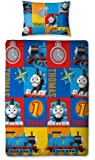 Character World Thomas and Friends Power Single Rotary Duvet Set, Multi-Color
