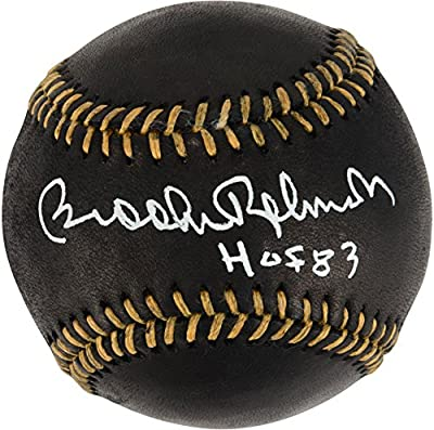 Brooks Robinson Baltimore Orioles Autographed Black and Gold Baseball with HOF Inscription - Fanatics Authentic Certified
