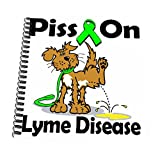 3dRose db_115877_3 Piss On Lyme Disease Awareness Ribbon Cause Design-Mini Notepad, 4 by 4