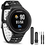 Garmin Forerunner 630 GPS Smartwatch - Black and White - Black/White Watch Band Bundle includes Forerunner 630 GPS and Black and White Watch Band