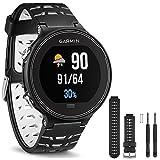 Garmin Forerunner 630 GPS Smartwatch - Black and White - Black/White Watch Band Bundle includes Forerunner 630 GPS and Black and White Watch Band