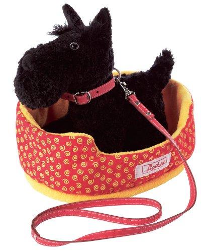 Imagen 1 de sigikid 38036  Sweety - Peluche de perro Schnauzer con cesta [Importado de Alemania]