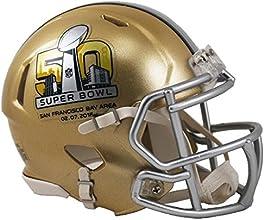 Super Bowl 50 Riddell Speed Mini Football Helmet - San Francisco