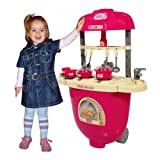 Kitchen Pretend Play Battery Operated Toy Set Trolley With Lights And Musical Sounds For Kids Ages 3+ Years
