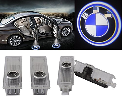 Generic 4Pcs/2 Pair Car LED Projector Door Lamp Ghost Shadow Welcome Light Laser Emblem Logo Kit for Special Series 3 (3-series, F30) (Bmw Logo Door Light Car compare prices)