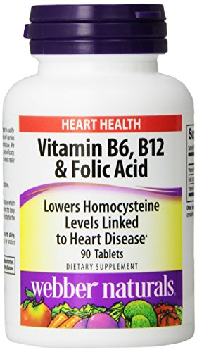 Webber Naturals vitamine B6, B12 et acide folique